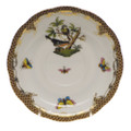 Herend Rothschild Bird Borders Brown Tea Saucer No.2 6 in ROETM200734-1-02