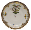 Herend Rothschild Bird Borders Brown Tea Saucer No.3 6 in ROETM200734-1-03