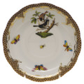 Herend Rothschild Bird Borders Brown Tea Saucer No.4 6 in ROETM200734-1-04