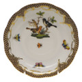 Herend Rothschild Bird Borders Brown Tea Saucer No.5 6 in ROETM200734-1-05