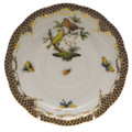 Herend Rothschild Bird Borders Brown Tea Saucer No.6 6 in ROETM200734-1-06