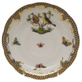 Herend Rothschild Bird Borders Brown Tea Saucer No.7 6 in ROETM200734-1-07
