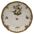 Herend Rothschild Bird Borders Brown Tea Saucer No.8 6 in ROETM200734-1-08