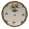 Herend Rothschild Bird Borders Brown Tea Saucer No.9 6 in ROETM200734-1-09