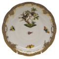 Herend Rothschild Bird Borders Brown Tea Saucer No.11 6 in ROETM200734-1-11