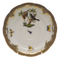 Herend Rothschild Bird Borders Brown Tea Saucer No.12 6 in ROETM200734-1-12