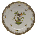 Herend Rothschild Bird Borders Brown Service Plate No.3 11 in ROETM201527-0-03