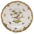 Herend Rothschild Bird Borders Brown Dessert Plate No.1 8.25 in ROETM201520-0-01