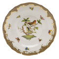 Herend Rothschild Bird Borders Brown Dessert Plate No.3 8.25 in ROETM201520-0-03