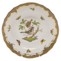 Herend Rothschild Bird Borders Brown Dessert Plate No.4 8.25 in ROETM201520-0-04