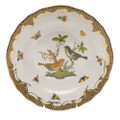 Herend Rothschild Bird Borders Brown Dessert Plate No.5 8.25 in ROETM201520-0-05