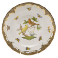 Herend Rothschild Bird Borders Brown Dessert Plate No.6 8.25 in ROETM201520-0-06