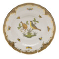 Herend Rothschild Bird Borders Brown Dessert Plate No.7 8.25 in ROETM201520-0-07