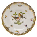 Herend Rothschild Bird Borders Brown Dessert Plate No.9 8.25 in ROETM201520-0-09