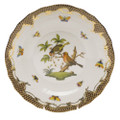 Herend Rothschild Bird Borders Brown Dessert Plate No.10 8.25 in ROETM201520-0-10