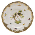 Herend Rothschild Bird Borders Brown Dessert Plate No.11 8.25 in ROETM201520-0-11