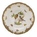 Herend Rothschild Bird Borders Brown Dessert Plate No.12 8.25 in ROETM201520-0-12