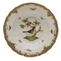 Herend Rothschild Bird Borders Brown Rim Soup No.1 9.5 in ROETM201503-0-01