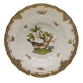 Herend Rothschild Bird Borders Brown Rim Soup No.2 9.5 in ROETM201503-0-02