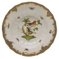 Herend Rothschild Bird Borders Brown Rim Soup No.3 9.5 in ROETM201503-0-03