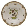 Herend Rothschild Bird Borders Brown Rim Soup No.4 9.5 in ROETM201503-0-04