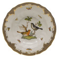 Herend Rothschild Bird Borders Brown Rim Soup No.5 9.5 in ROETM201503-0-05