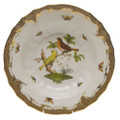 Herend Rothschild Bird Borders Brown Rim Soup No.6 9.5 in ROETM201503-0-06