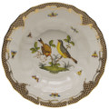 Herend Rothschild Bird Borders Brown Rim Soup No.7 9.5 in ROETM201503-0-07