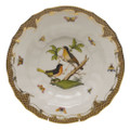 Herend Rothschild Bird Borders Brown Rim Soup No.8 9.5 in ROETM201503-0-08