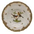 Herend Rothschild Bird Borders Brown Rim Soup No.9 9.5 in ROETM201503-0-09