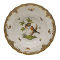 Herend Rothschild Bird Borders Brown Rim Soup No.10 9.5 in ROETM201503-0-10