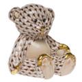 Herend Small Teddy Bear Fishnet Brown 2.5 x 2.5 in SVHBR215974-0-00