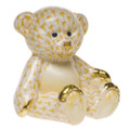 Herend Small Teddy Bear Fishnet Butterscotch 2.5 x 2.5 in SVHJ--15974-0-00
