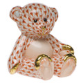 Herend Small Teddy Bear Fishnet Rust 2.5 x 2.5 in SVH---15974-0-00