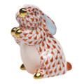 Herend Pudgy Bunny Fishnet Rust 1.5 x 2 in SVH---15068-0-00