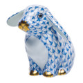 Herend Sitting Lop Ear Bunny Fishnet Blue 2 x 2 in SVHB--15091-0-00