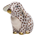 Herend Sitting Lop Ear Bunny Fishnet Brown 2 x 2 in SVHBR215091-0-00