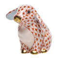Herend Sitting Lop Ear Bunny Fishnet Rust 2 x 2 in SVH---15091-0-00