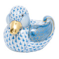 Herend Dapper Ducky Fishnet Blue 2.75 x 2.25 in SVHB--05464-0-00