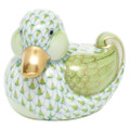 Herend Dapper Ducky Fishnet Key Lime 2.75 x 2.25 in SVHV1-05464-0-00