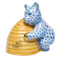 Herend Honey Bear Fishnet Blue 2.75 x 2.75 in SVHB--15500-0-00