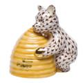Herend Honey Bear Fishnet Brown 2.75 x 2.75 in SVHBR215500-0-00