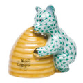 Herend Honey Bear Fishnet Green 2.75 x 2.75 in SVHV--15500-0-00
