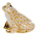 Herend Miniature Frog Fishnet Butterscotch 1.5 in SVHJ--15975-0-00