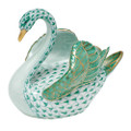 Herend Swan Fishnet Green 4 x 3.5 in SVHV--05237-0-00