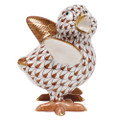 Herend Chicken Little Fishnet Brown 2 x 2.25 in SVHBR205131-0-00