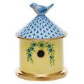 Herend Bird House Box Fishnet Blue 3 x 4 in VHB---06066-0-05