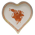 Herend Small Heart Tray Chinese Bouquet Rust AOG---07703-0-00