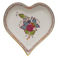 Herend Small Heart Tray Printemps 4x4 in AF----07703-0-00