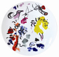 Bernardaud Marc Chagall The Hadassah Windows (1962) Coupe Dinner Plate JOSEPH TRIBE 10.6 in